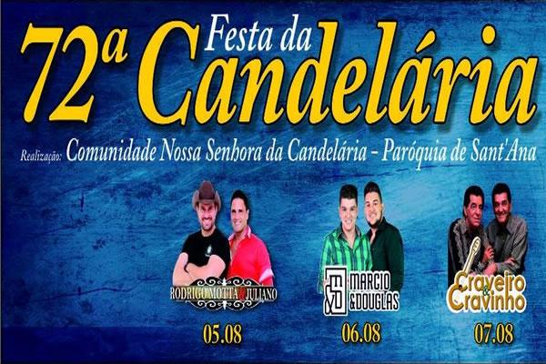 Tradicional Festa da Candelária, acontece nos dias 5, 6 e 7 de agosto