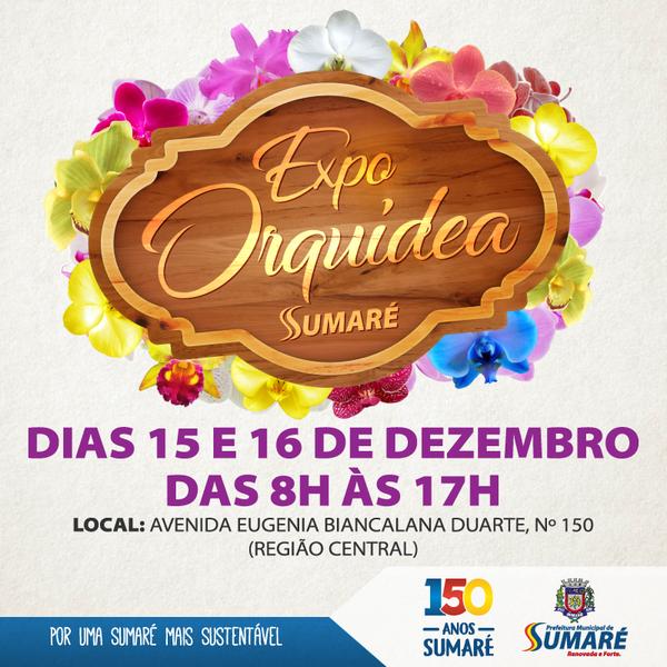 """Fim de semana: Sumaré terá Expo Orquídea e programação do """"Natal do Bem"""" no Centro e Matão"""